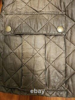 Rare Barbour Steve Mcqueen Collection Mulholland Distressed Quilted Jacket XL