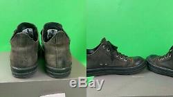 Rare Rick Owens Ramones Mens Suede En Cuir Distressed Low Top Chaussures Taille 42.5
