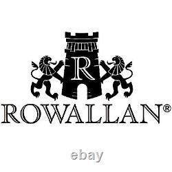 Rowallan Brown Cuir De Vache Dérangé Driftwood Sac De Voyage/holdall Avec Sangle