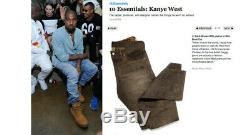 Rrl Denim Jeans Slim Bootcut Golden Brown Célèbre Par Kanye West Correspond À 32 X 30