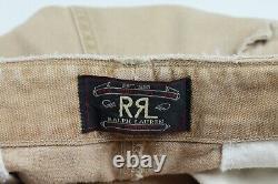 Rrl Ralph Lauren Brown Toile Lourde Décontraction Cargo Pantoufles Utilitaire De Poche 34/31