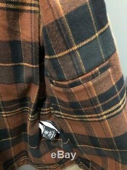 Rrl Ralph Lauren Shearling-trim Tan Distressed Voiture Cuir Veste De Manteau XL Nwt