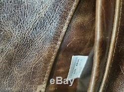 Schott Nyc Tempête # 673- Détresse Brown Rétro Veste En Cuir Made In USA Triton XL
