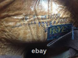 Square Toe Frye Distressed Made USA Vintage Leather Brown Boss Campus Boots 10d