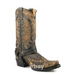 Stetson Men's King Détressed Black Harness Boot 12-020-6124-1651