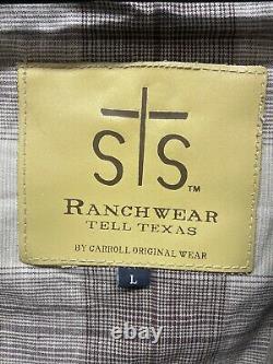 Sts Ranchwear Cartwright Veste Homme Grand Cuir Marron Détresse Nouveau A01-24