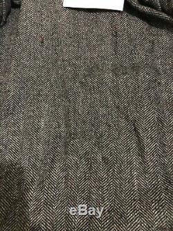 Superdry Ryan Quatre Poches Distressed Veste En Cuir Taille L 40 (102cm) Rrp £ 199