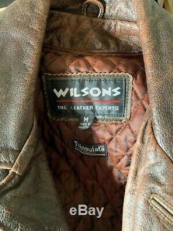 Supernatural Dean Winchester Wilsons Cuir Vieilli Veste Manteau