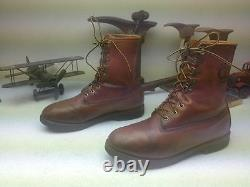 Travail En Détresse Chippewa Made In USA Lace Up Farm Chore Packer Boots Taille 10d