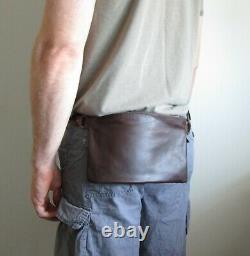 Véritable Cuir Nouveau Fanny Pack Hip Pouch Belt Waist Bum Bag Travel Bag Hommes Femmes