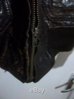 Vintage 40 Usn G1 Distressed Veste Volant En Cuir Veste Taille Xs