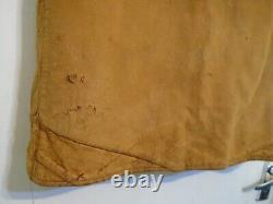 Vintage 40's Ww2 British Army Issue Distressed Leather Jerkin Jacket Taille M