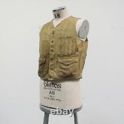 Vintage 50s 60s Filson Tin Cloth Chasse Veste Detressed Early Shooting