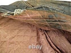 Vintage 50s Sears Hercules Hercules Handhide Cuir Jacket Mens 40 En Détresse