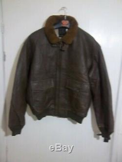 Vintage Avirex Usaaf Problème Distressed G-1 Flying Jacket Veste En Cuir Taille XL