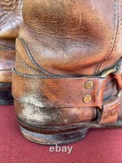 Vintage Black Label Frye Harness Bottes Taille 11 D Ingénieur De Moto En Détresse