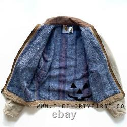 Vintage Carhartt Distressed Blanket-lined Detroit Jacket Taille Petite