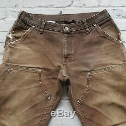 Vintage Carhartt Double Genou Pantalons Jeans Toile Travail Distressed Wip