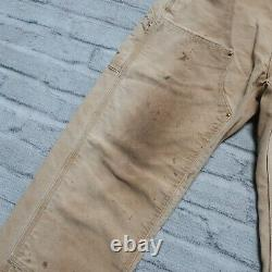 Vintage Carhartt Double Knee Canvas Work Pants Jeans Distressed Front Wip