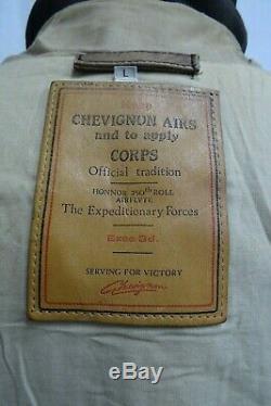 Vintage Chevignon Air Corps Bombardier Flight En Cuir Pour Hommes Veste L De 44r
