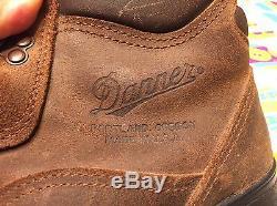 Vintage Danner Goretex Distressed USA Ingénieur En Cuir Marron Randonnée Bottes 9.5 Ee