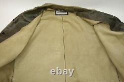 Vintage Dolce Et Gabbana Distressed Leather Jacket Homme Taille 46 XL