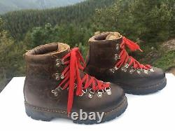 Vintage Kastinger Distressed Austria Leather Brown Mountaineering Boots S. 8-8.5