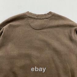 Vintage Nike Golf Brown Crewneck Sweatshirt Hommes Grand