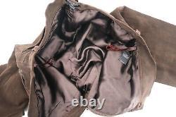 Vintage Ralph Lauren Polo Pantalon En Cuir Brun Foncé En Détresse Homme 32