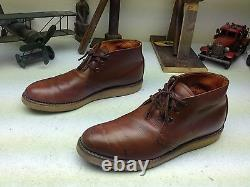 Vintage Red Wing Brown Distressed Leather Engineer Packer Chukka Trail Boots 10a Vintage Red Wing Brown Distressed Leather Engineer Packer Chukka Trail Boots 10a Vintage Red Wing Brown Distressed Leather Engineer Packer Chukka Trail Boots 10a Vintage Red