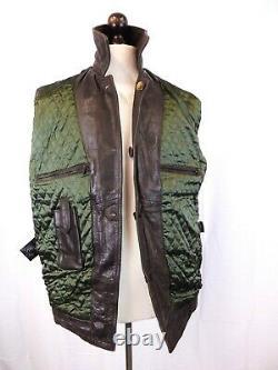 Vintage Redskins Brown Leather Chore Coat Workwear Jacket Medium Ld274