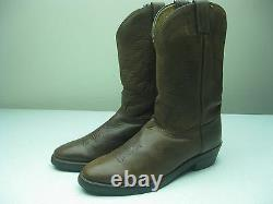 Vintage USA Distressed Chippewa Brown Leather Biker Western Boots Taille 12 D