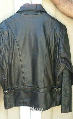 Vintage Vanson Oxford Taille 44 Cowhide Leather Jacket Zip Out Lining Distressed