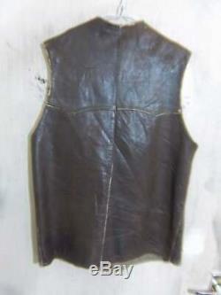 Vintage Ww2 L'armée Britannique Problème Les Soldats Affligé Pourpoint En Cuir Veste Taille 38