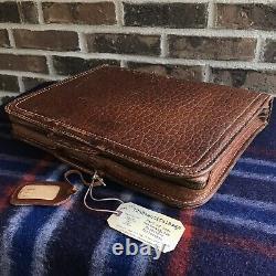 Vinture Rare Des Années 1940 Pigskin Distressed Leather Macbook Pro Briefcase Bag R$898