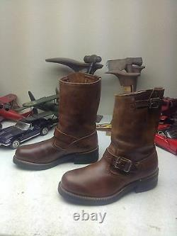 Walker Steel Toe Brown Engineer En Cuir Détraqué Bottes De Moto Boss 6ee