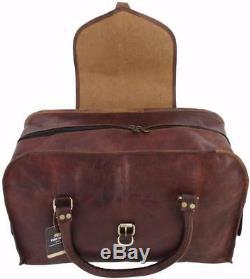 Yuge Ours 24 C50 Vtg Mens En Cuir Véritable Voyage Valise Duffel Carry On Bag